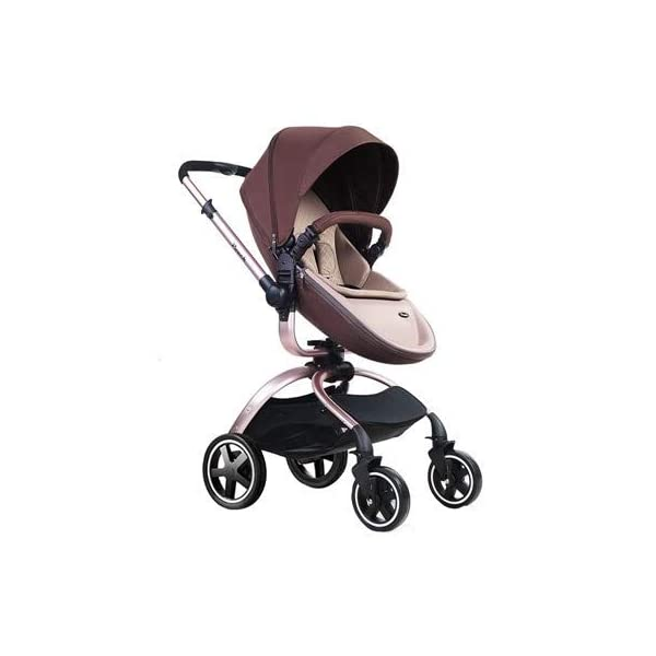 Baby Stroller, Foldable Lightweight EU Baby Doll Stroller, Leather Baby Trend Jogging Stroller for Baby Infant Newborn Baby (Color : Coffee) AEQ ●BABY ALIVE STROLLER TWO-WAY IMPLEMENTATION:enhance baby comfort baby stroller fan, check the baby at any time, family is more assured. ●5+1 SECURITY PROTECTION: for baby stroller five-point seat belt + armrest hatch protection, all-round coverage to protect the baby's key parts, baby pram stroller strictly slip away. ●ENJOY THE SUN WITHOUT SUNBURN: Baby strollers are made of natural natural fabric and bottom PT film. They have excellent rebound and stretchability, and they can maintain a smooth and beautiful appearance after many times of folding. With authoritative certification, it can isolate more than 95% of ultraviolet rays, meet the travel needs of the baby in different time periods, and resist the sun glare. Baby stroller toy protects the baby's delicate skin. 1