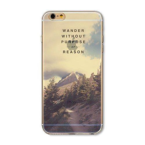 Coque iPhone 7 Housse étui-Case Transparent Liquid Crystal en TPU Silicone Clair,Protection Ultra Mince Premium,Coque Prime pour iPhone 7-Paysage-style 9 4