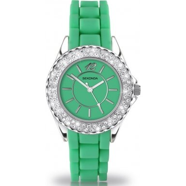 party-time-by-sekonda-431527-palm-ladies-green-fashion-watch