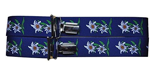 Trachtenhosenträger Hosenträger Edelweiss (Blau)