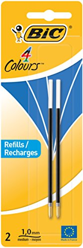 Bic Recharges de stylos à bille 2 ou 4 couleurs 2 Items bleu