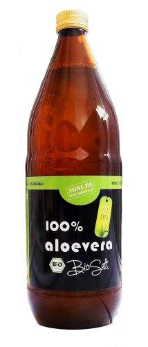 Aloe Vera BIO-Direktsaft mit Pulpe (1 Ltr) + Gratis-Dosierbecher