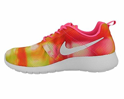 Nike Jr Rosherun Flight Weight Gs, Baskets Basses Mixte Enfant Vert-Jaune-Rose