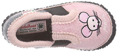 Adelheid Süße Maus Kinderwollhausschuh Mädchen Flache Hausschuhe Pink (rosa / 610)