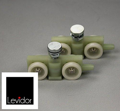 LEVIDOR ® Glasschiebetür Laufwagen für das Systems EasySlide - Material: Nylon, bekannt aus der Raumfahrt mit Nadellagern - Made in Germany. Als Ersatz für bestehende Laufwagen für Ihr Schiebetüren-System von Levidor, Lieferung: Zwei Laufwagen