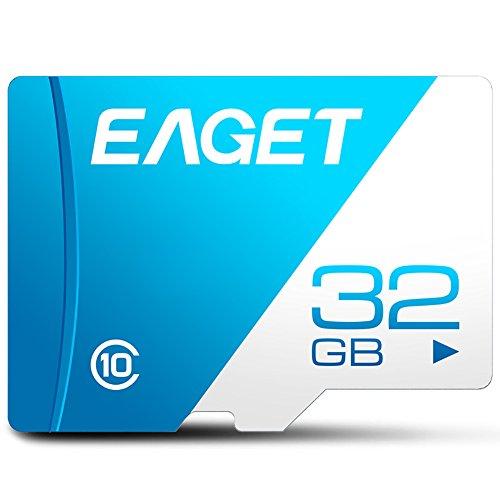 Elec tech EAGET T1 SD Card 128 GB bis zu 85 MB/Sek, Class 10 Speicherkarte (Blau) (32G) (Sd-karte Class 10 32g)