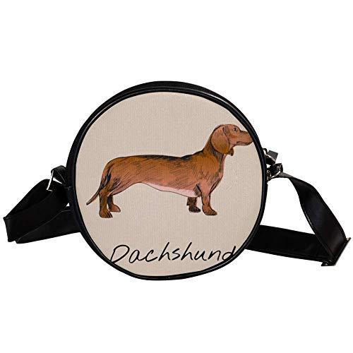 Bennigiry - Bolso bandolera para mujer, diseño de perro salchicha