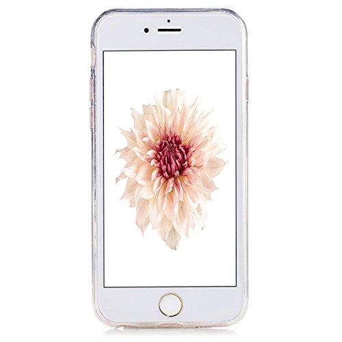 Coque iPhone 6S , iPhone 6 Etui TPU , CaseLover Mandala Motif Mode Etui Coque TPU Slim pour Apple iPhone 6 / 6S (4.7 pouces) Mode Flexible Souple Soft Case Couverture Housse Protection Anti rayures Mi Mandala pourpre