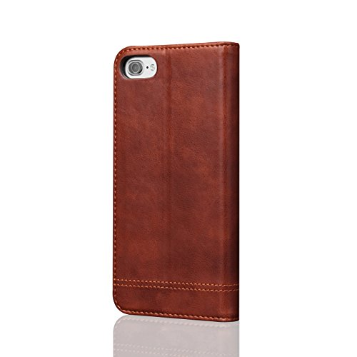 AddGuan iPhone 8 Case,PU Cuoio Alta Qualità[Chiusura magnetica][Carta Slot][Funzione Stent]Portafoglio Clamshell Adatto Per iPhone 8 Case (Nero) Marrone