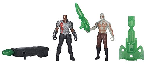 Marvel Guardians of the Galaxy Doppelpackung - Drax und Korath Figuren [UK Import]