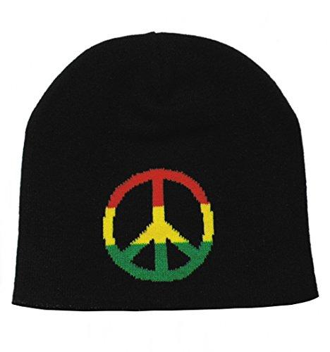Rasta Peace Beanie Mütze