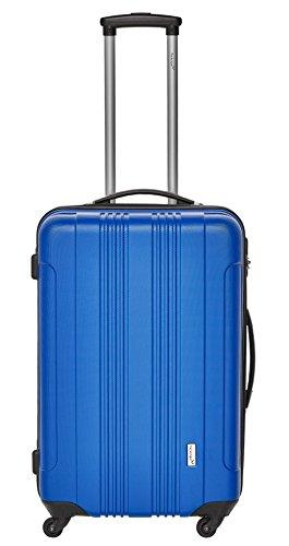 Packenger Kofferset - Torreto - 3-teilig (M, L & XL), Blau, 4 Rollen, Koffer mit Zahlenschloss, Hartschalenkoffer (ABS) robuster Trolley Reisekoffer - 4