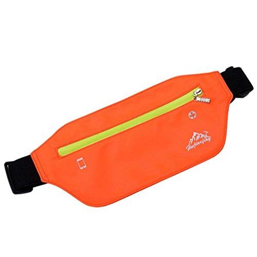 VJGOAL Damen Bauchtasche, Unisex Damen Herren Outdoor Sport Neutral Reine Farbe Wasserabweisend Nylon Messenger Brusttaschen (Orange) (Fendi Canvas Handtasche)