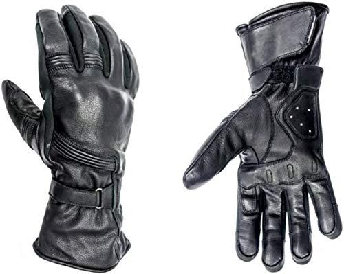 HELSTONS Titanium - Guanti invernali da moto, in pelle, taglia 8, colore: Nero
