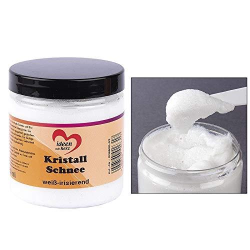 Ideen mit Herz Kristall-Schnee, weiß   dekorative Schneepaste zum Basteln   Deko-Schnee   Kunst-Schnee   250 ml (weiß irisierend)