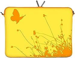 Digittrade LS114-10 Summer Summer Designer Schutzhülle für Laptops und Tablets mit einer Bildschirmdiagonale von 25,9 cm (10,2 Zoll) gelb-orange