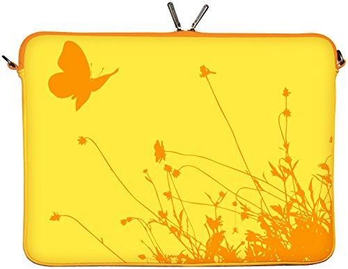 Digittrade LS114-17 Summer Designer Schutzhülle für Laptops und Notebooks mit einer Bildschirmdiagonale von 43,9 cm (17,3 Zoll) gelb-orange
