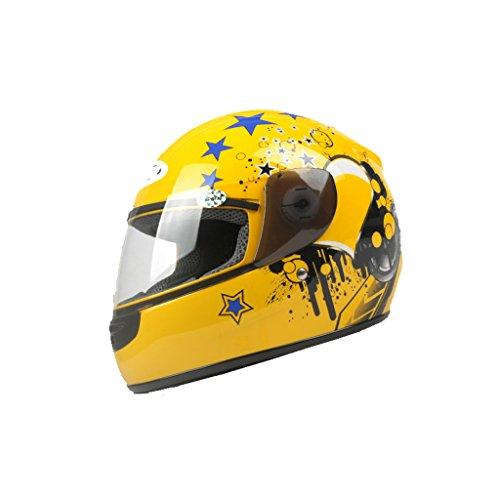 ZNND Roller Helm Abs Schale Vier Jahreszeiten Männlich Lokomotive Hälfte Persönlichkeit Prinz Licht Skateboard Kleinkind Rolle (Farbe : Gelb, größe : L) - 48cm Rennrad