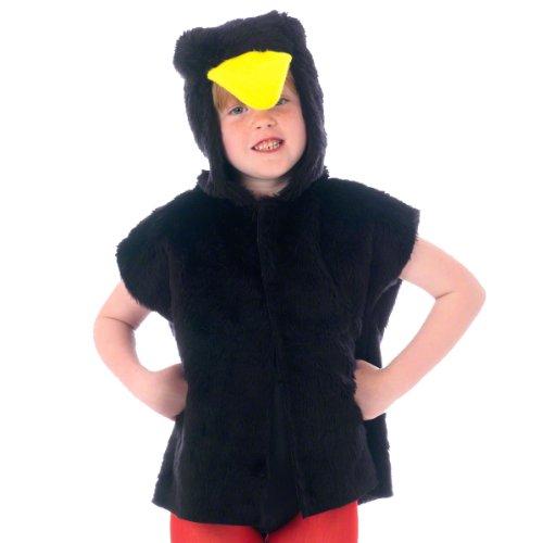 Unbekannt Charlie Crow Schwarz Vogel Kostüm für Kinder - Einheitsgröße 3-8 Jahre.