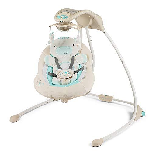 ZZKJCCF Kinder Schaukeln TüRsteher Stuhl, Babywippe Und Babywippe, Baby Schaukelstuhl Sichere Automatische Wiege, Beruhigt Den Schlaf des Babys Artefakt, Die Neugeborene Schlafschaukel,Grey