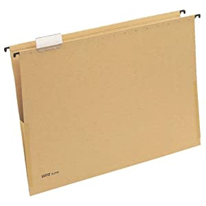 Leitz Alpha 19760000 Suspension File A3 Side Clamps Cardboard Natural Brown