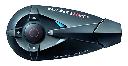 Interphone F5MC Single-Pack - Bluetooth 3.0 Motorrad Freisprecheinrichtung Gegensprechanlage Headset - (Jet- und Integralhelm) - Intercom, Telefonieren, GPS-Navigation, FM-Radio, Musikwiedergabe - Interphone Bluetooth