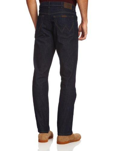 Wrangler Herren Jeans Regular Fit Str Rinsewash Blau