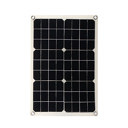 20W Solar Panel Polycrystalline Solar Panel kit for 18 V Battery Charging with Inverter Charge Controller