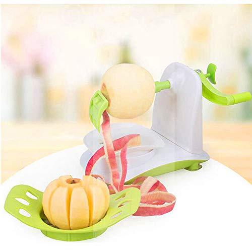 JKYQ Kleine Multifunktionsschälmaschine Manual Apfelpeel-Kranke Obst Schneidset Kartoffel-Gemüsepeeling Portable Gürtel Green 180.5×120.5×150.5mm -