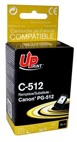 Cartouche compatible CANON PG-512 - Noir - marque : UPrint C-512 - Imprimantes : PIXMA iP2700 / PIXMA iP2702 / PIXMA MP230 / PIXMA MP240 / PIXMA MP250 / PIXMA MP252 / PIXMA MP260 / PIXMA MP270 / PIXMA MP272 / PIXMA MP280 / PIXMA MP282 / PIXMA MP480 / PIXMA MP490 / PIXMA MP492 / PIXMA MP495 / PIXMA MP499 / PIXMA MX320 / PIXMA MX330 / P