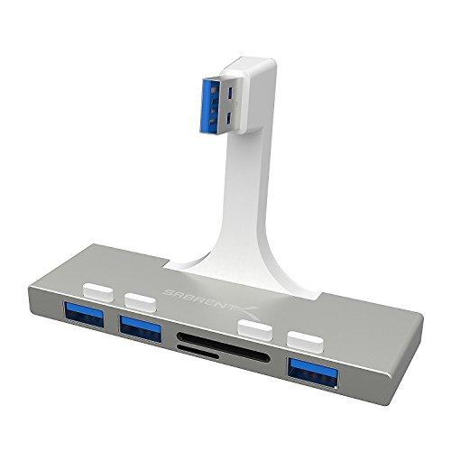 Sabrent USB HUB + Kartenleser - 3-Port USB 3.0 Hub mit Multi-In-1 Kartenleser für iMac (2012 und später) Schlanker einteiliger-Unibody [iMac Slim Unibody] (HB-IMCR) - Ft-hub