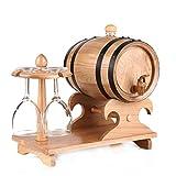 Liansheng 5L Eichenfass Getränkehalter Eichenfass Weinfass Selbstgemachtes Weinfass Dekoration Fass...