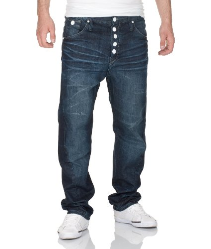 Outfitters Nation Herren Straight Leg Jeans KABEL KUBIC JEANS 511 Blau