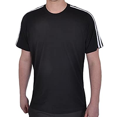 adidas Performance Mens Cotton Gym T Shirt - Black - XL - Chest Size 46/48 by adidas