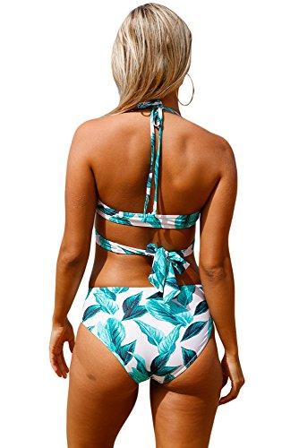 QUEENIE VISCONTI  Damen Bikini-Set Grün
