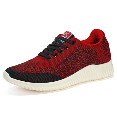 Men's Breathable Foldaway Athletic Outdoor Running Shoes Wine Red