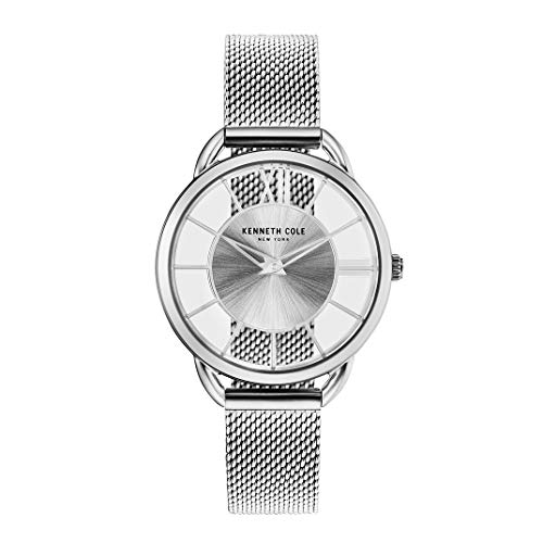 Kenneth Cole New York Women's 'Transparency' Quartz Stainless Steel Casual Watch, Color:Silver-Toned (Model: KC50537001)
