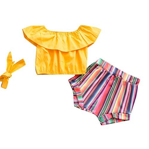 Cwemimifa Baby Babykleidung,Neugeborene Baby Mädchen Bow Floral Hosenträger Weste Tops solide Shorts Outfits Set,Badminton-Bekleidungssets für Mädchen,Weiß