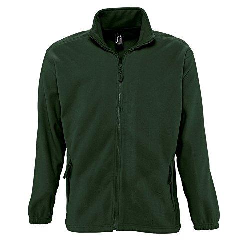 SOLS Herren Outdoor Fleece Jacke North Wald Grün
