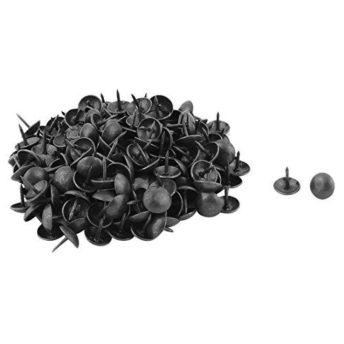 sourcing map Chincheta Clavo Un Alfiler Negro De Mesa Redonda De Metal 10 X 10mm 200Pcs