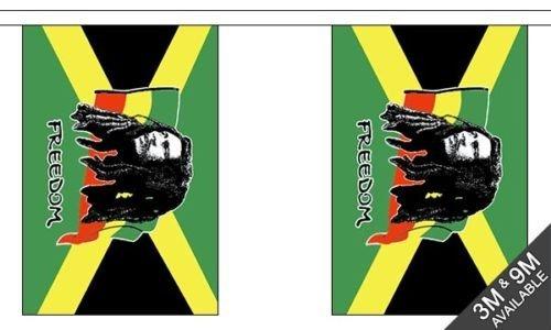 Bob Marley (Giamaica) - 9 metro di lunghezza, 30 bandiera + 59mm Spilla