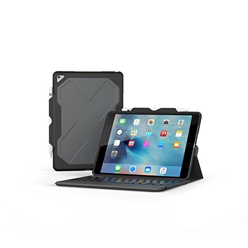 Zagg Rugged Messenger 7Farbe Hintergrundbeleuchtung Bluetooth-Tastatur für Apple iPad Pro 10,5–schwarz–id9rmk-bb0 (Folio Messenger)