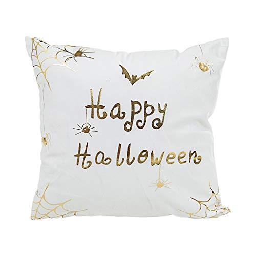Kostüm Muster Pharao - Happy Halloween Stamping Print Dekokissen Fall Muster Festival Party Dekorative Kissenbezug
