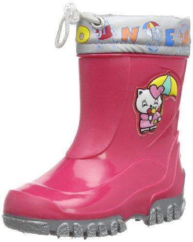 Nora Püppi, Mädchen Kurzschaft Gummistiefel, Pink (Pink 34), 20 EU