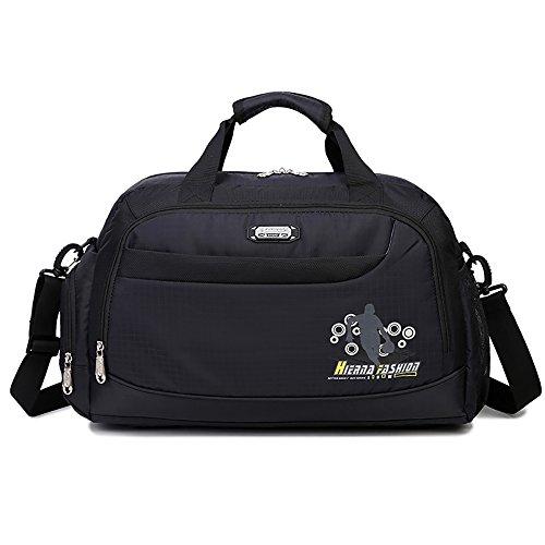Soradoo Sporttasche 20L Teamtasche Handtasche Umhängetasche mit Abnehmbarer Schultergurt Schwarz