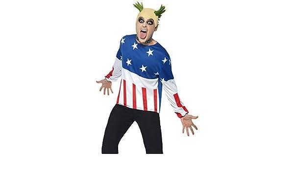 90s Fire Starter Costume Prodigy Keith Flint Da Uomo Costume Festa Parrucca