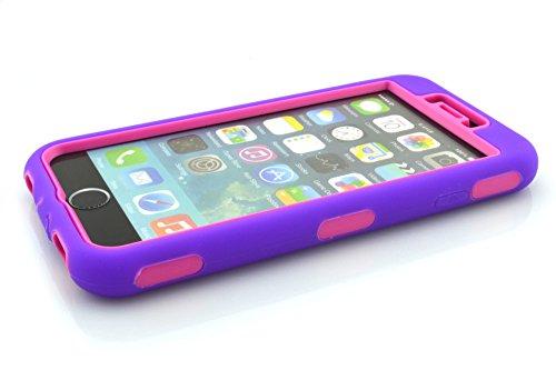 meaci (TM) Coque pour iPhone 611,9cm cas 3en 1Combo hybride Defender High Impact Corps ArmorBox Coque rigide en silicone et PC Coque de protection (VI)