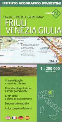 Friuli Venezia Giulia 1:200.000. Ediz. multilingue (Carte stradali regionali d'Italia) por aa.vv.