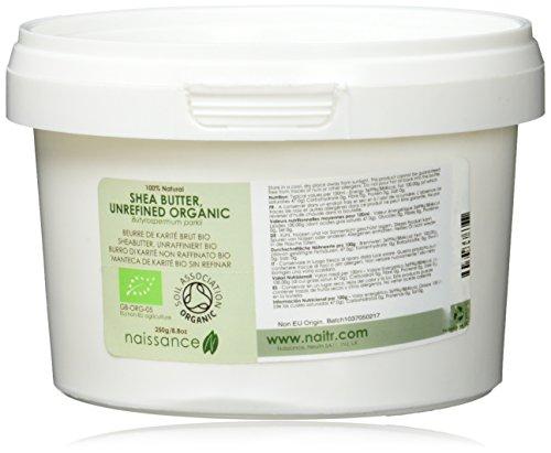 Naissance Sheabutter, unraffiniert 250g BIO zertifiziert 100% rein (Reine Bio-shea Butter)