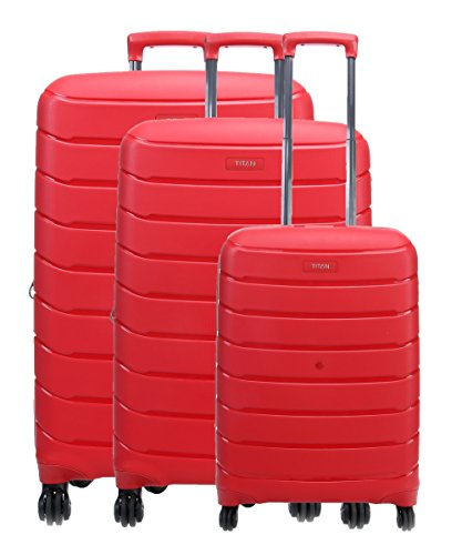 TITAN Set de bagage 'Limit' 3 pcs rouge Koffer-Set, 77 cm, 106 liters, Rot (Rouge)